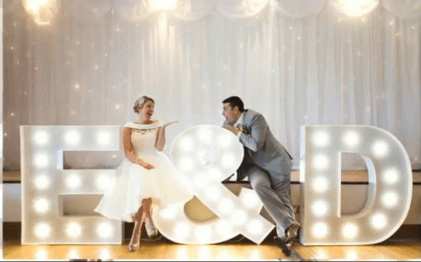 Wedding Suppliers Ireland - Lighting Letters